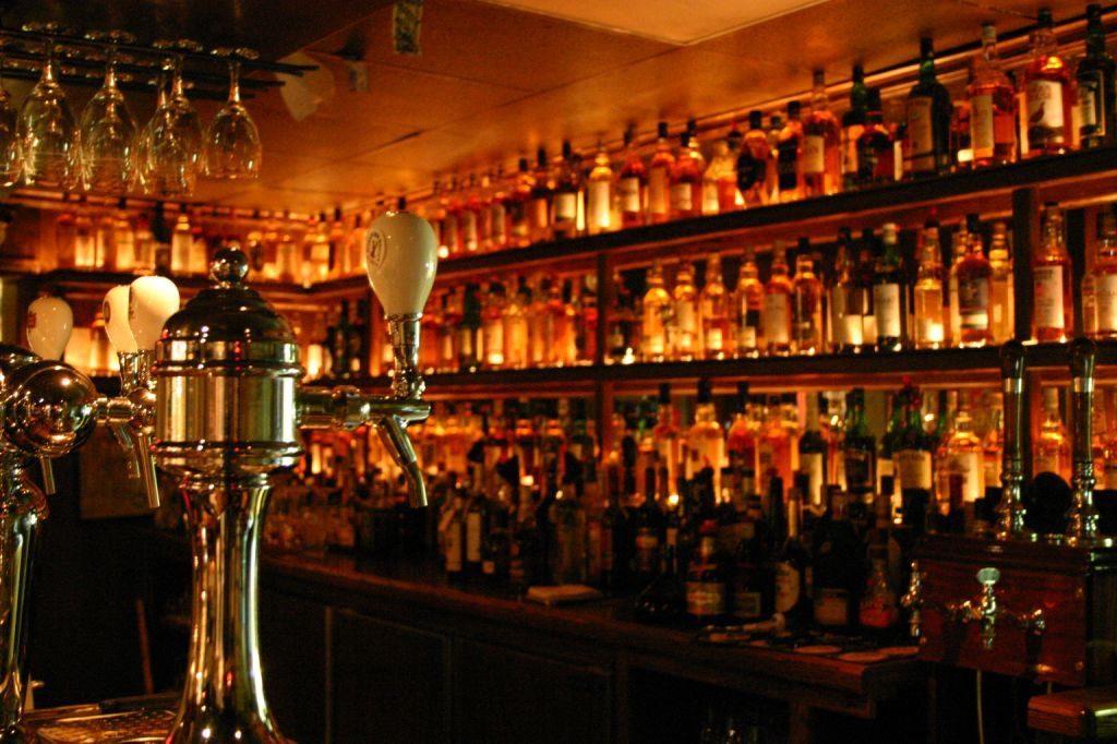 The whisky bar at The Dam Pub in Thornbury
