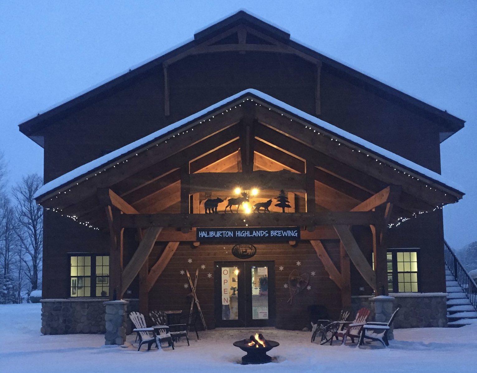 Haliburton Brewing Company's location in winter is one the best Haliburton breweries