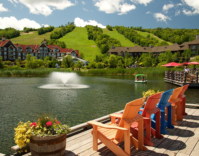 Visiting The Mill Pond is one of the top things to do in Blue Mountain Village in summer