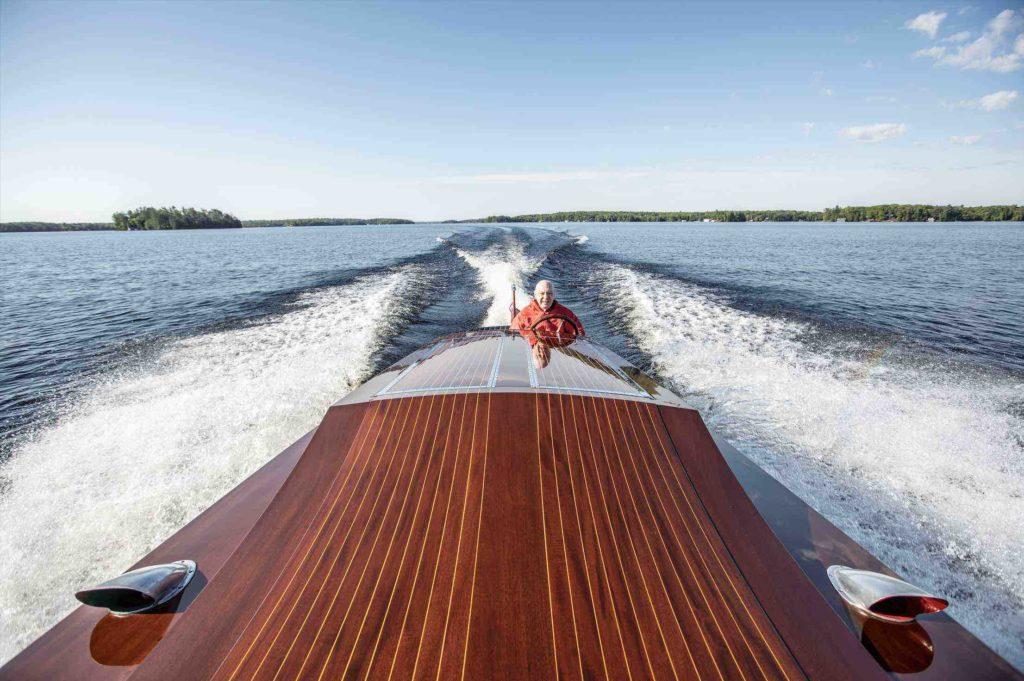 Miss Supertest III racing across Lake Muskoka