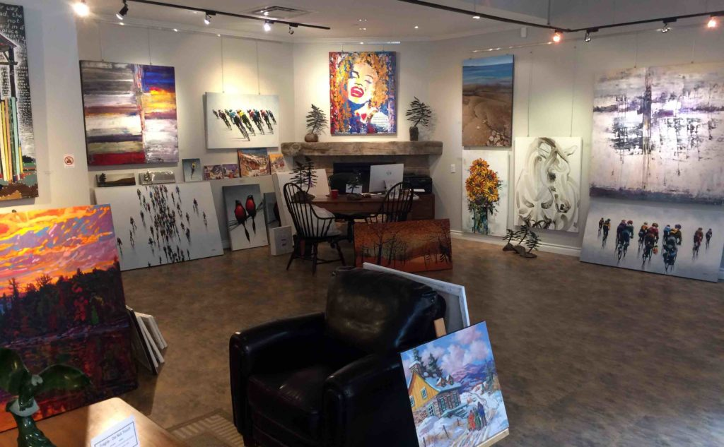 Brights Gallery store interior showing art on walls